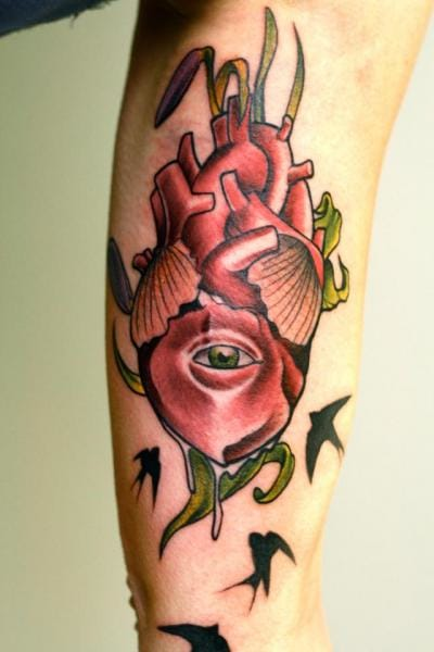 Eye Heart Tattoo by Signs and Wonders