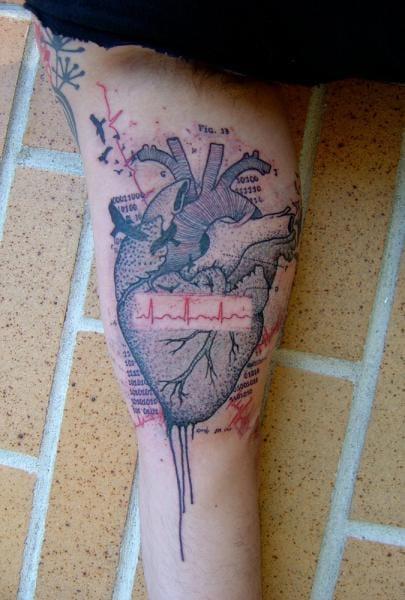 Heart Tattoo by Xoïl
