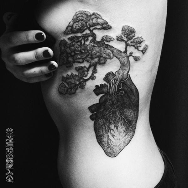 A tree growing out of the heart