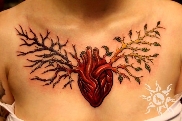 Heart Tree Tattoo by Ramas Tattoo