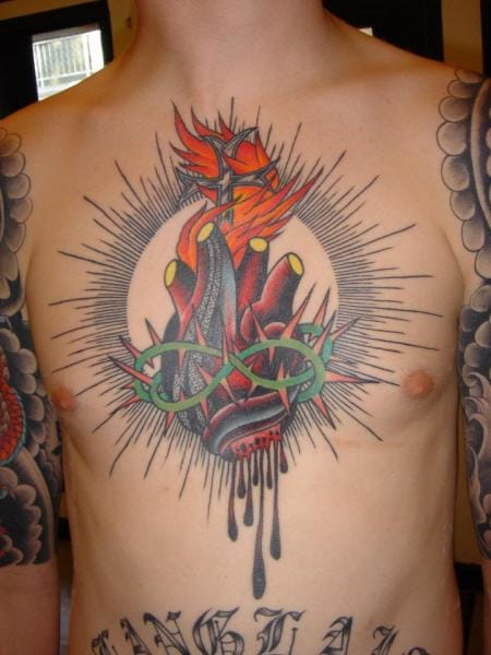 Religious Heart Tattoo by Chad Koeplinger