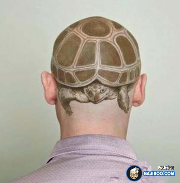 Turtle head tattoo