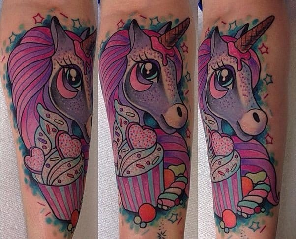 Sweet, Sparkly & Kawaii Tattoos by Keely Rutherford