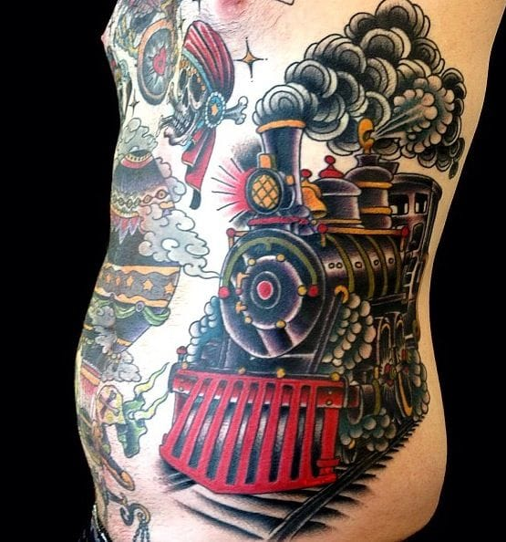 Awesome train side piece, artist unknown
