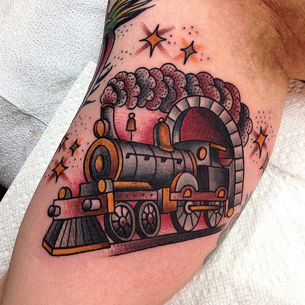 Traditional style train by Matt Houston