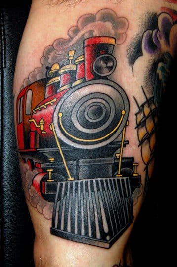 Train Tattoo by Jim Sylvia