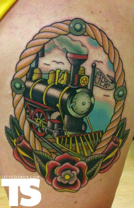 Steam train, unknown artist