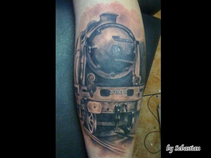 Train Tattoo by Sebastian at Baltic Tattoo