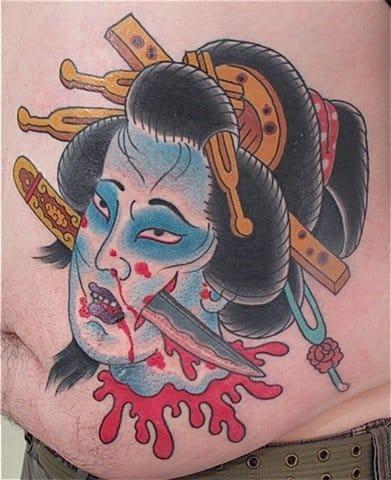 Severed Head Tattoo