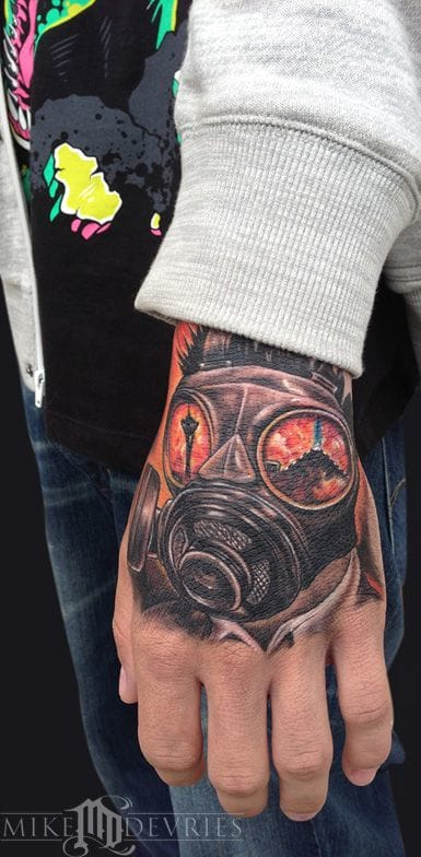 Hand gas mask by Mike Devries