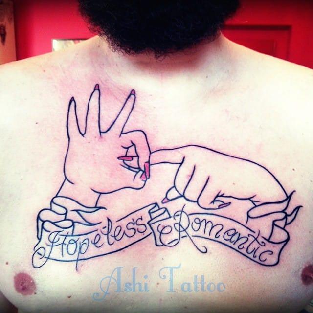 Hopeless romantic, haha! By Ashi Tattoo.