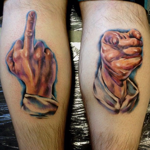 """""""You? F*ck You!"""" By Axi Tattoo."""
