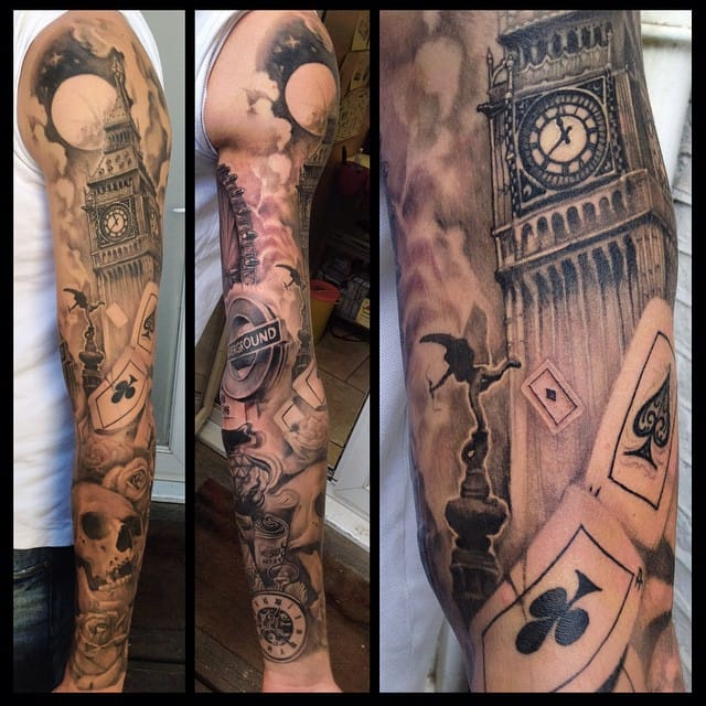 Badass London sleeve by Miguel Angel Espinosa!
