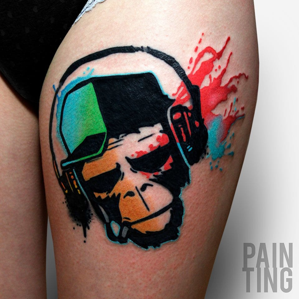 Spotlight: The Graphic Tattoos Of Pain Ting