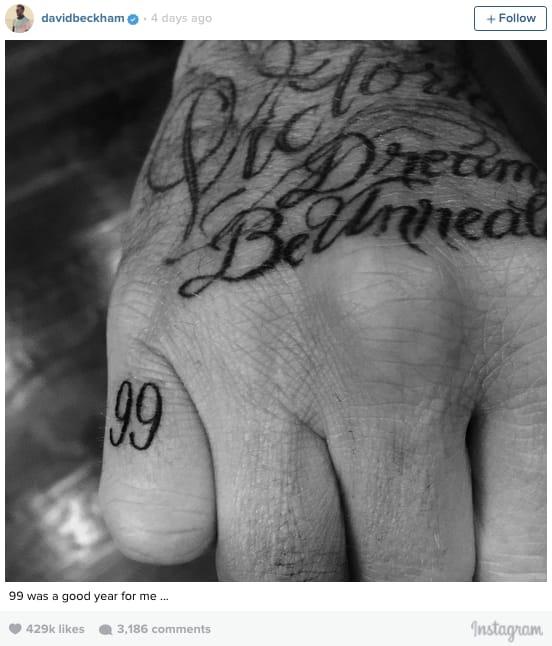 Number 99 tattoo