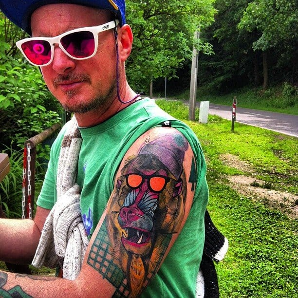 Dope abstract baboon tattoo