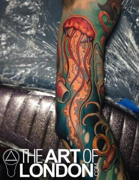 Realisitic Jellyfish Tattoo by The Art of London