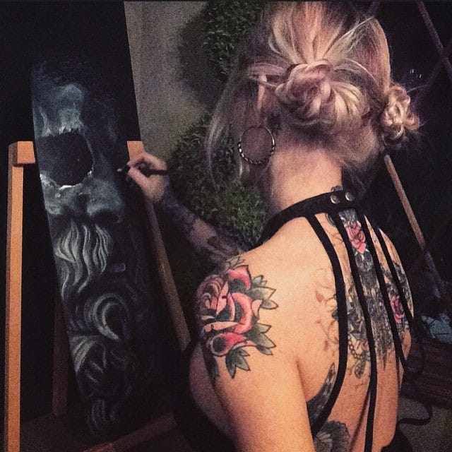 The artist, Stacy Jean