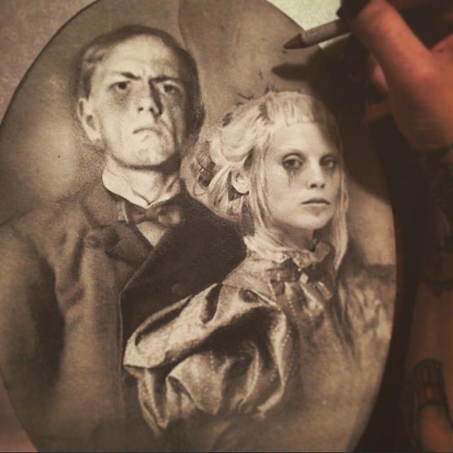 Victorian Die Antwoord drawing