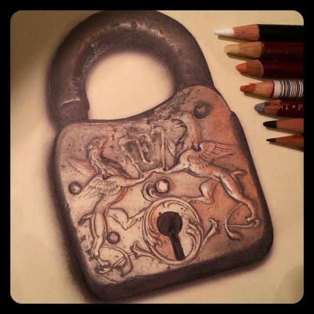 Lock drawing