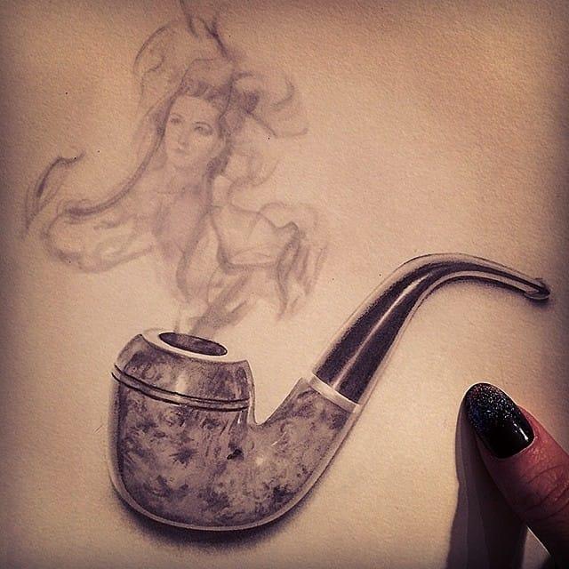 Amazing smoke drawing
