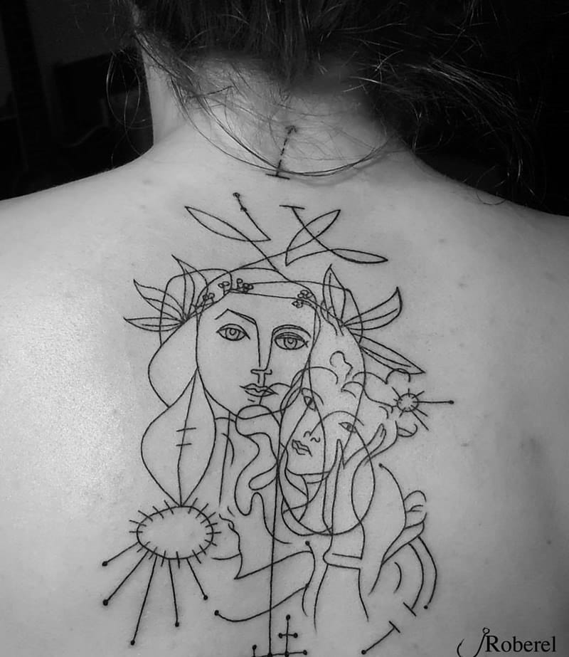 Picasso Line Drawing Tattoo : Will you ever get one of these picasso inspired tattoos