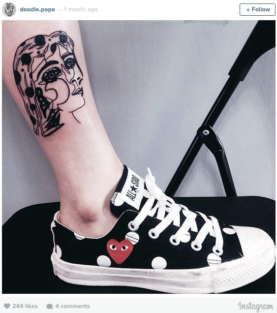 Dora Maar portrait tattoo