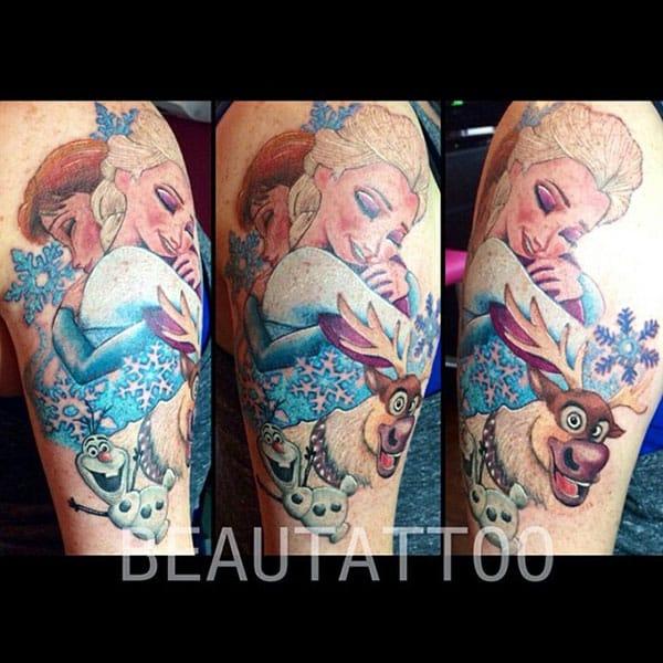 Disney's Fancy Frozen Tattoos