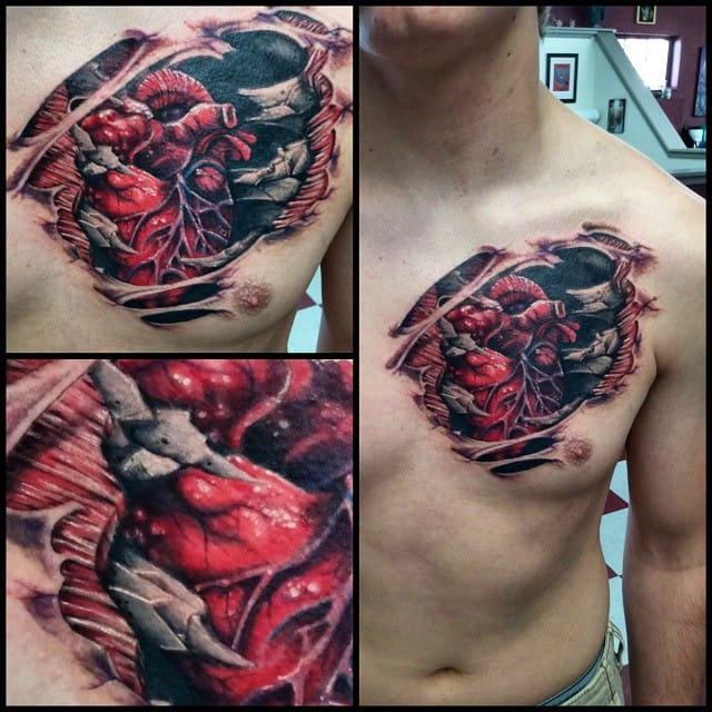 Gory tattoo by Angell Dominguez.