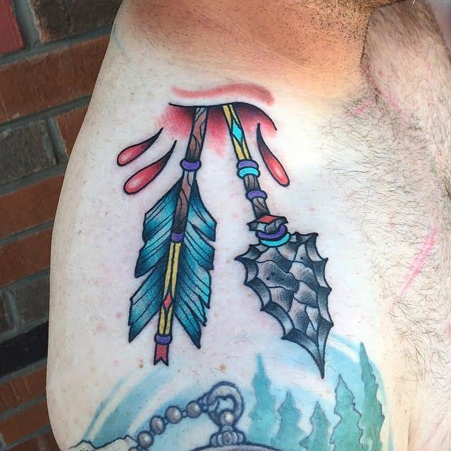 Rad shoulder tattoo by Micah Gunderson.
