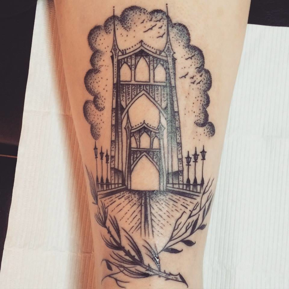 Simple bridge tattoo