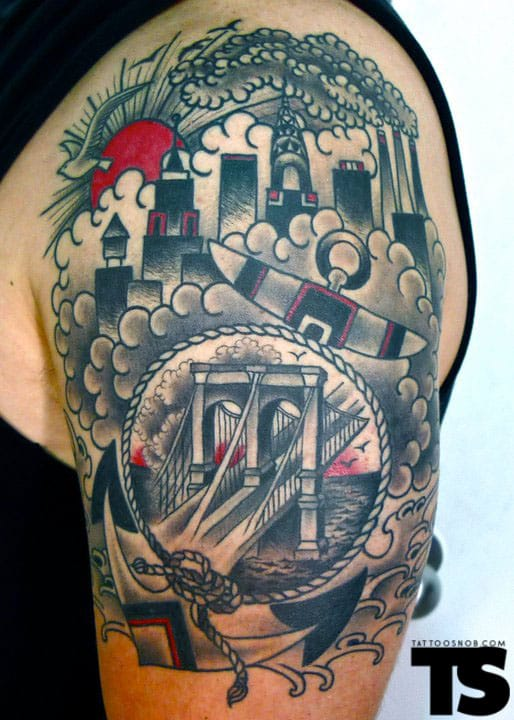 Virginia Elwood created this awesome old school tattoo