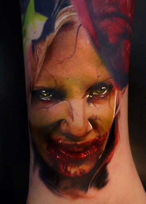 Bloody Tattoo by Joshua Carlton