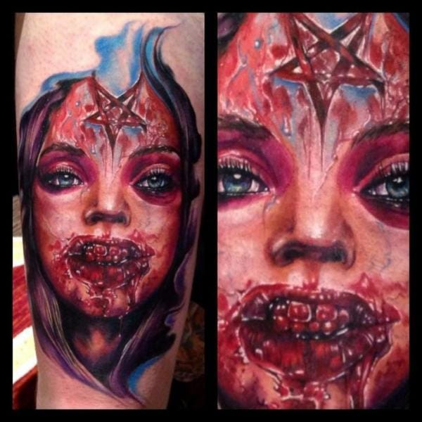 Bloody Tattoo by Ron Russo