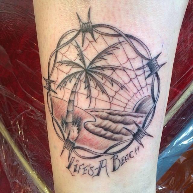 Life's a beach tattoo