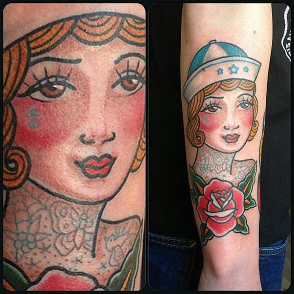 Sailor woman tattoo