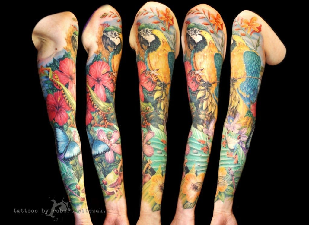 Nice full sleeve done by Robert Witczuk