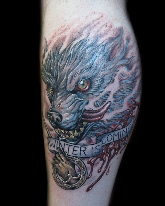 "Impressive ""Winter is coming"" piece by Flaco Martinez !"