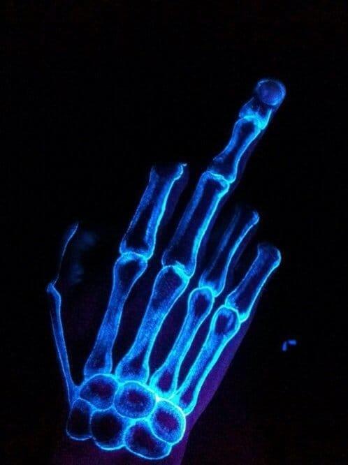Hand skeleton tattoo