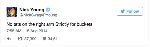 Nick Young Twitter