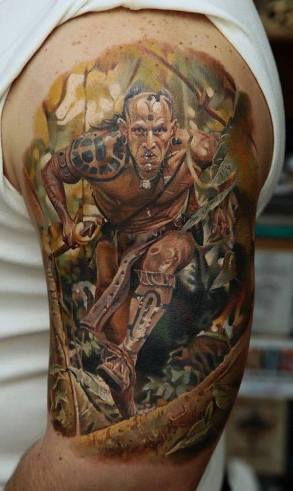 warrior fighting tattoos tattoo strong tattoodo