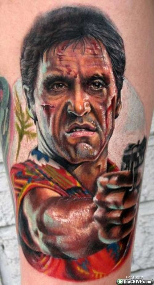 Tattoos Inspired By Action Movies. Scarface tattoo