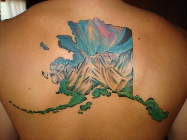 Alaska state tattoo
