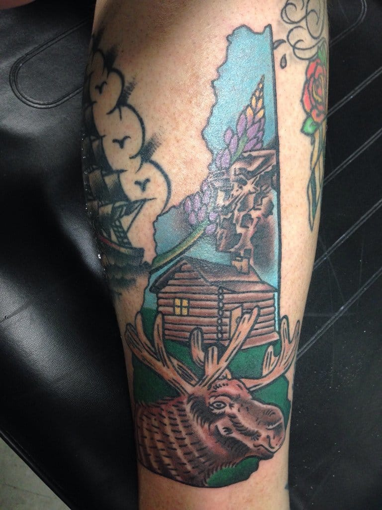 Love america then check these 50 tattoos for 50 states for New hampshire tattoo