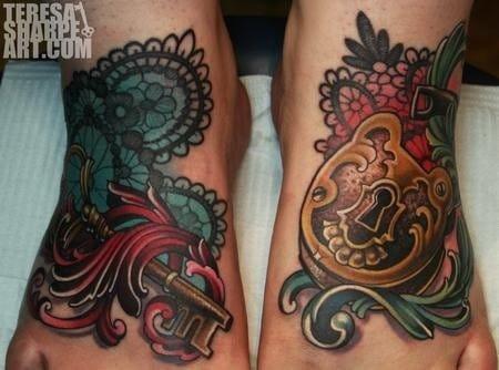 8 Lovely Lock & Key Tattoos
