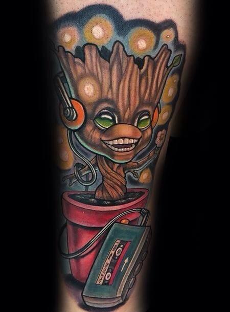 Illustrative new school style tattoo