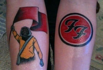Foo Fighters tattoo, artist unknown