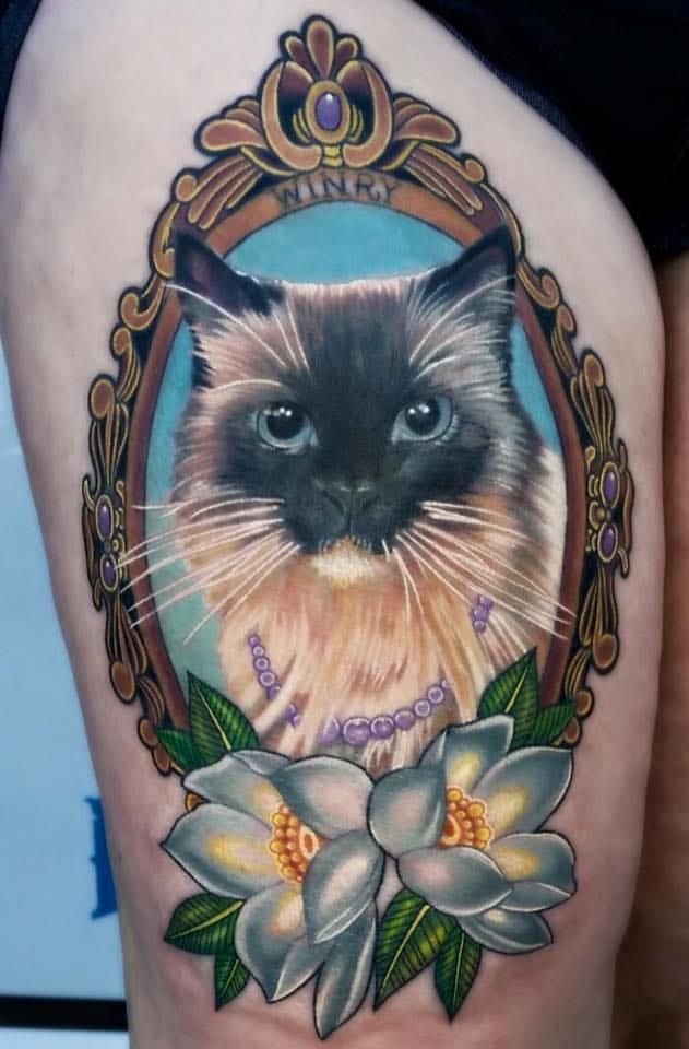 32 majestic cat portrait tattoos tattoodo
