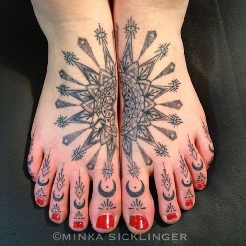 Beautiful Toe Tattoo