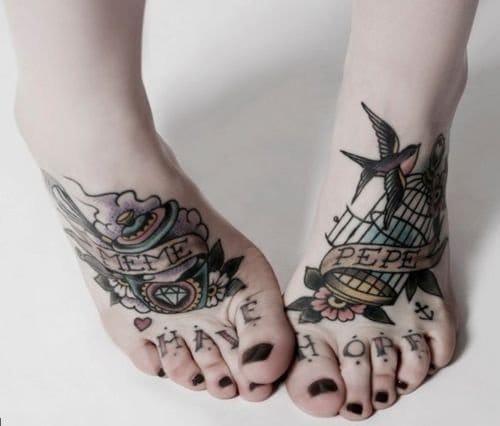 Have Hope, Toe Tattoo